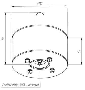 Схема всенаправленной антенны АП7.23Б.