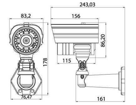 """SONY 1/3'' Super HAD CCD матрица высокого разрешения Разрешение 540 ТВ Режим  """"День/Ночь """" Убираемый ИК-фильтр..."""